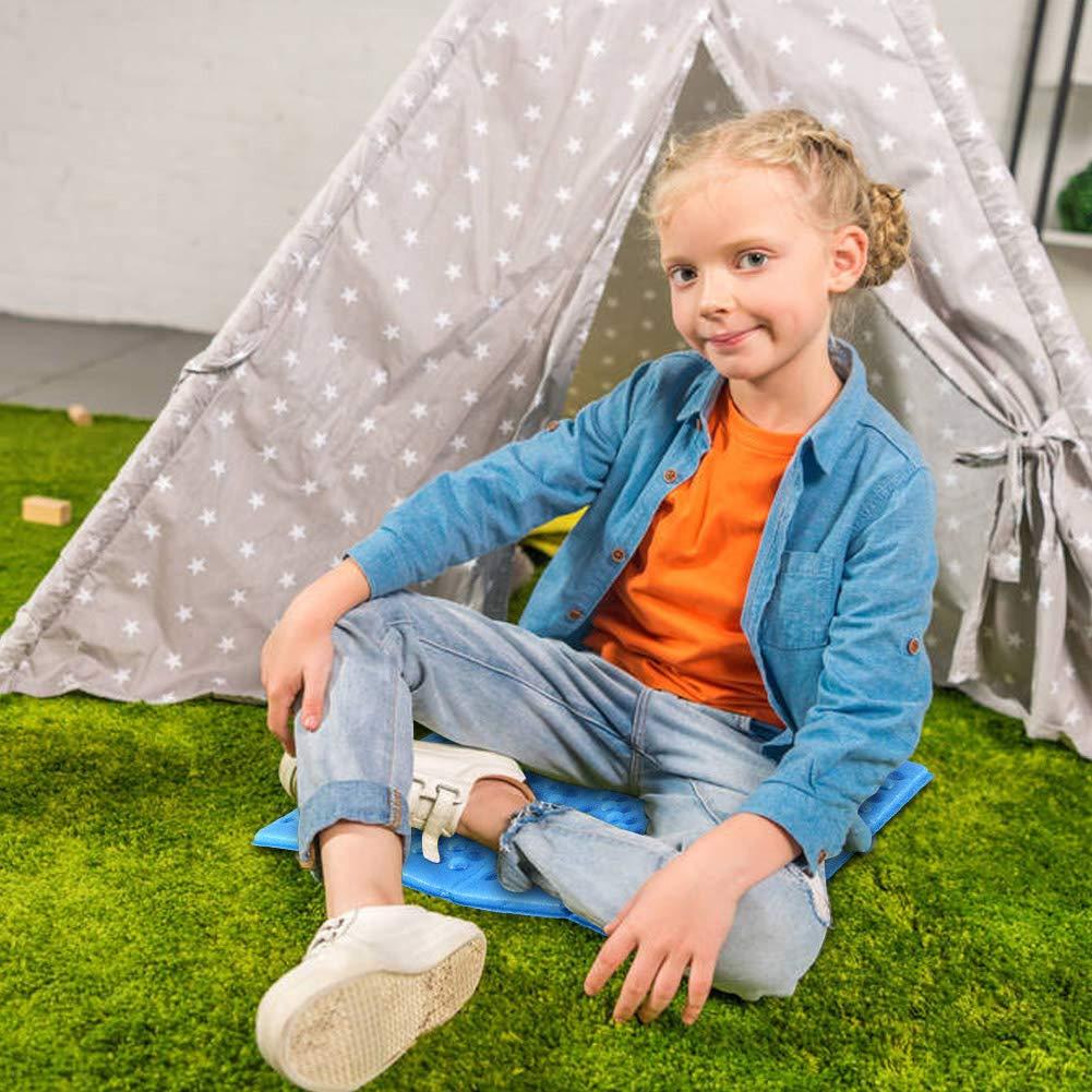 Alomejor Outdoor Schaumstoffpolster Faltbares Sitzkissen Camping Schaum Picknick Matte Geeignet f/ür Garten Angeln Wandern Bergsteigen Laufen