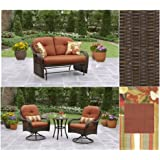 Amazon Com Hampton Bay Woodbury 7 Piece Patio Dining Set With