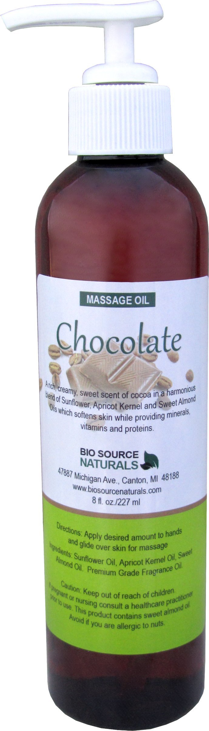 amazon com mint chocolate edible massage oil 8 fl oz pump with