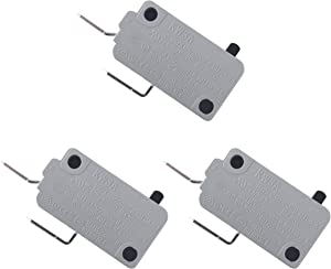 Ketofa KW3A Microwave Door Micro Switch Replacement for Microwave DR52 16A 125V/250V Normally Open(3 pcs)