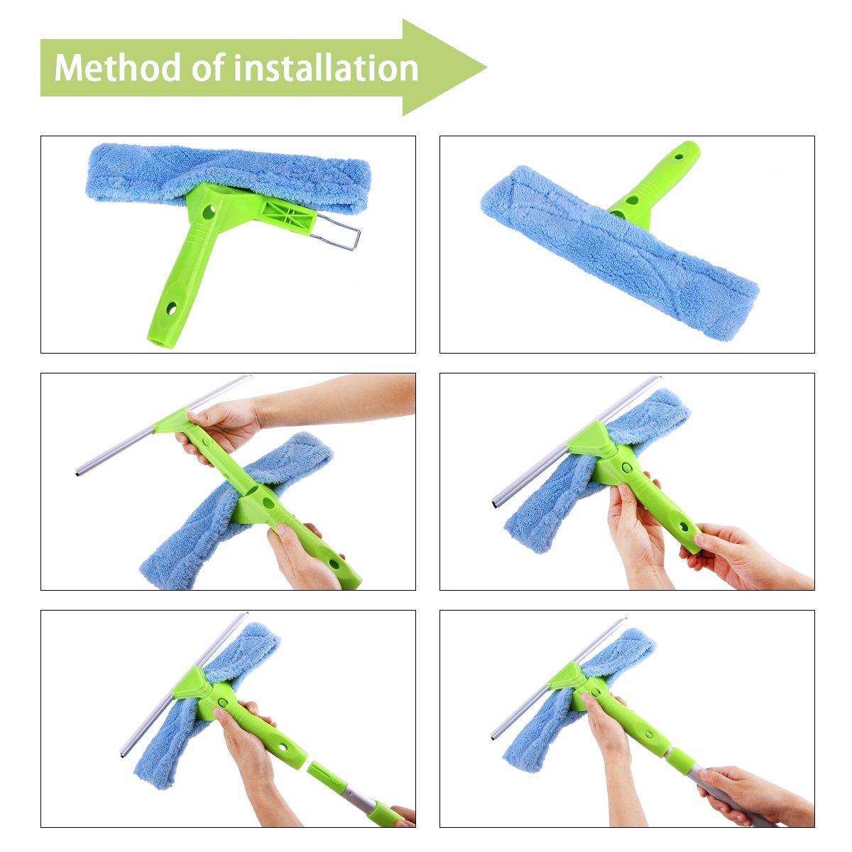 Amazon.com: Limpiador telescópico para ventanas 3 en 1 Kit ...