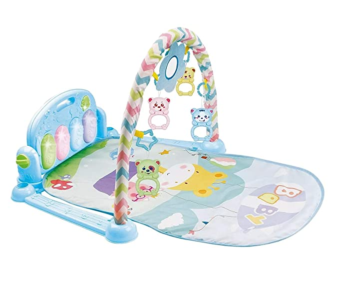 Playhood Musical Piano Kick and Play Baby Activity Gym - Blue