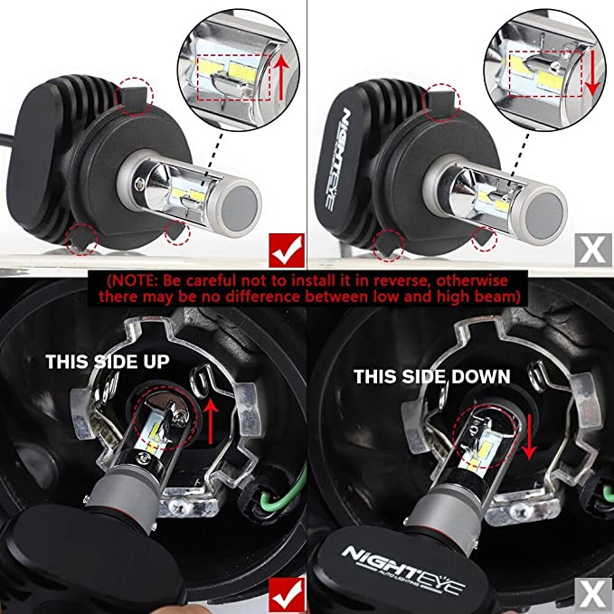 Novsight Bombillas 9005 / HB3 LED Bombillas, Faros o Luces Bajas para automóviles, Kit de reemplazo para lámparas halógenas y Luces de xenón, ...