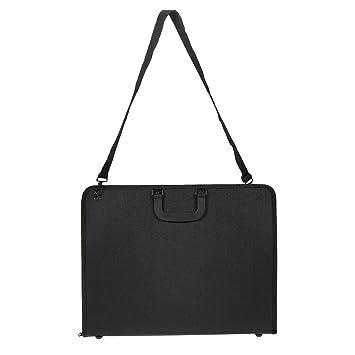 Art Portfolio Case - Artist Portfolios Case - Artist Carrying Case with  Shoulder Strap, Black, 19 x 14 7 x 1 5 Inches