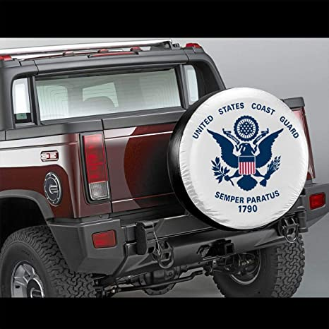 ZHOPNGY Us-Coast-Guard-Logo-Emblem Spare Tire Cover