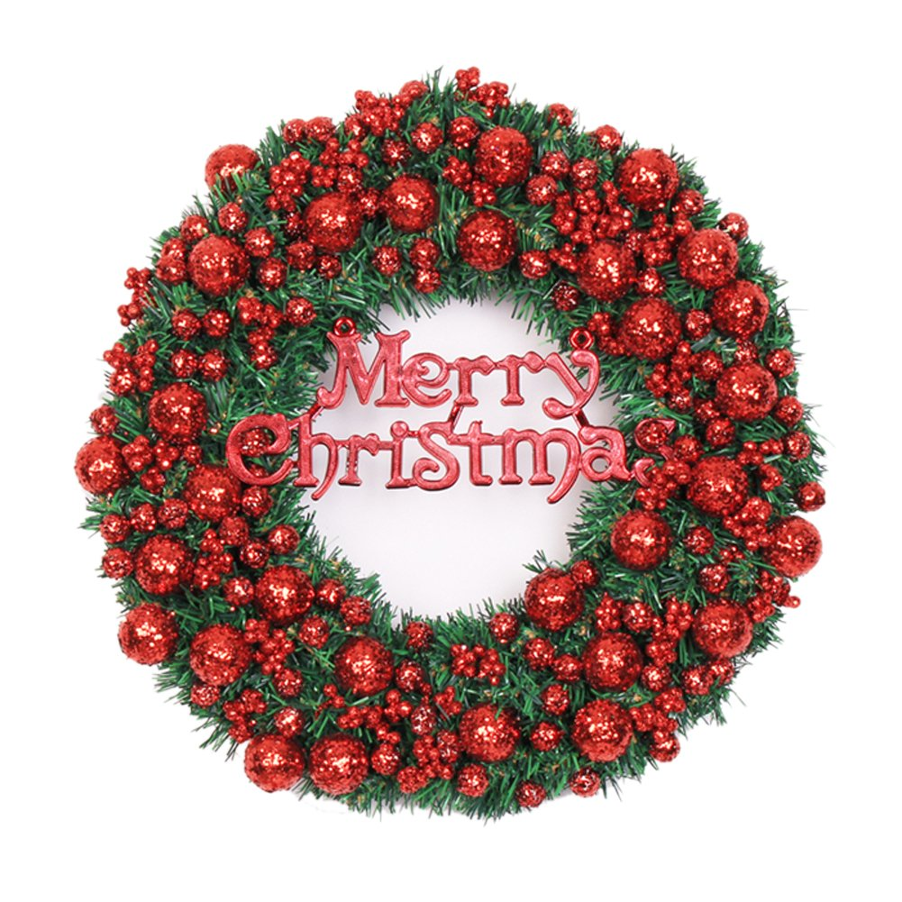 The Red Glitter Sequins Fruit Christmas Wreath Garland Ornaments Arcades Hotel Christmas Decorations