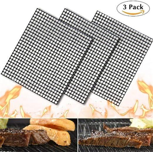 MINTIML GRILL MAT BBQ Grill Mesh Mat Non-Stick Cooking Sheet Liner UK