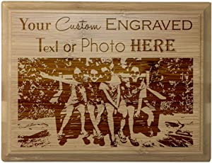 Custom Personalized 3D Laser Engraved Red Alder Finish Plaque with Your Personal Message, Text, Logo, or Photo - Wedding, Housewarming, Anniversary, Birthday, Father's Day, Christmas, Gift (4X6)