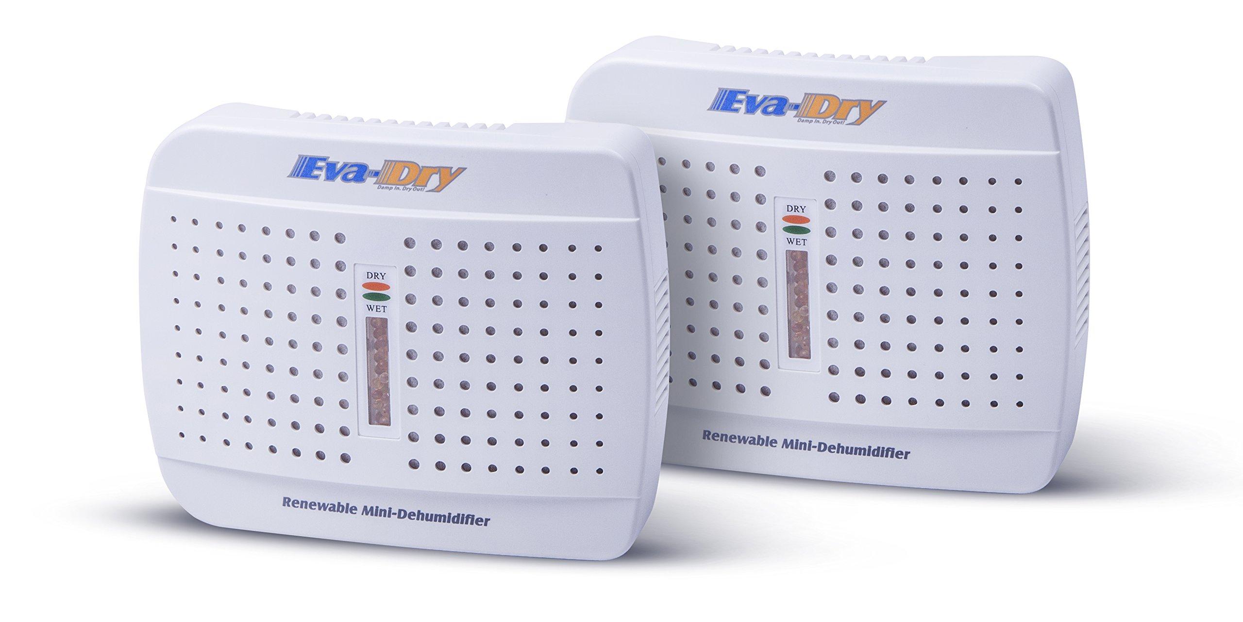 Eva-dry E-333 Renewable Mini Dehumidifier 2-PACK by Eva-Dry