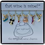 Wine Things WT-1428P Girls Night Out Wine Charms, Painted