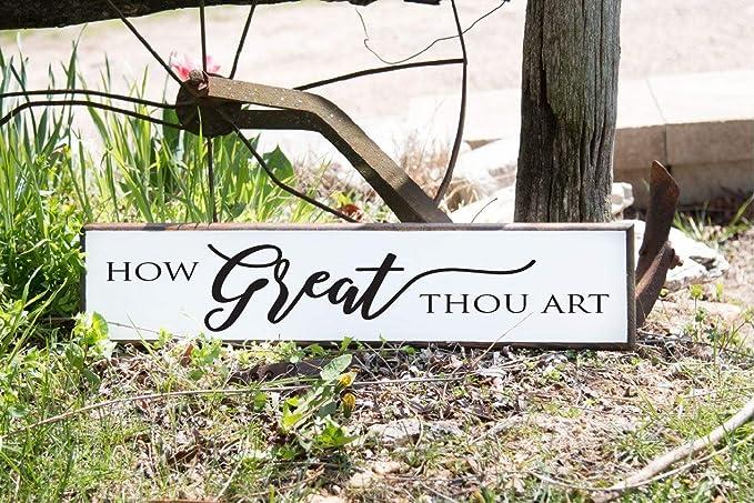 Amazon.com: nonbrand 15x50cm How Great Thou Art Hymn ...