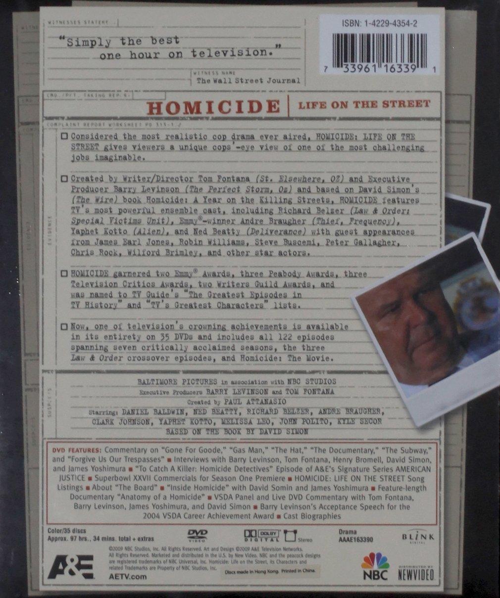 Amazon.com: Homicide: Life on the Street - The Complete Series: Richard  Belzer, Clark Johnson, Yaphet Kotto, Kyle Secor, Tom Fontana: Movies & TV