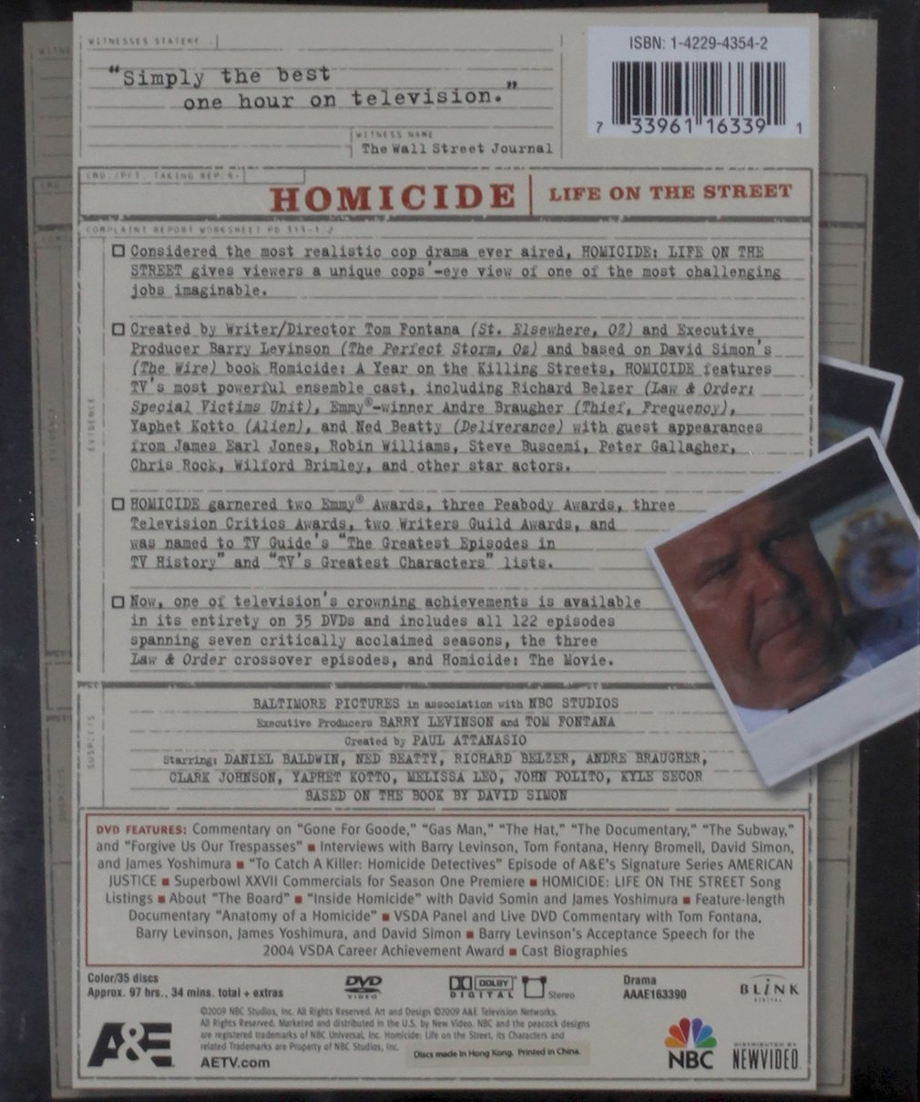 Homicide: Life on the Street - The Complete Series by A&E