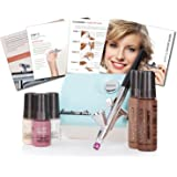 Luminess Air Red & Black Legend Airbrush System with 5 Piece Deluxe Airbrush Foundation & Cosmetic Starter Kit, Medium