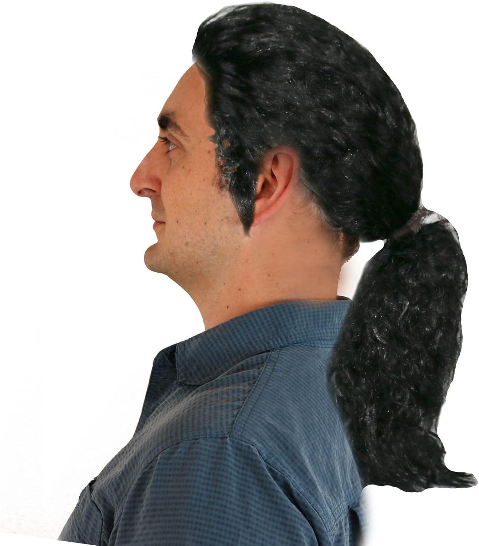 Kids Black Curly Long Ponytail Wig for Popstar MJ Costume Women Michael Jackson Wig Men