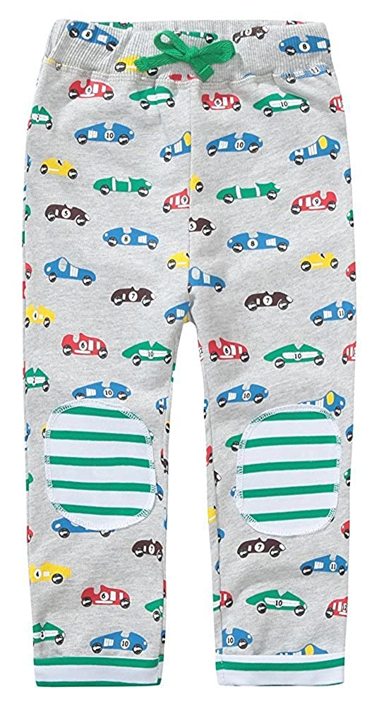 KIDSALON Little Toddle Boys/Girls Cotton Pants Drawstring Elastic Sweatpants