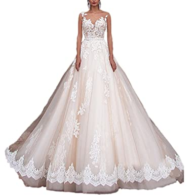 3281a4dabb RMDress Vintage Princess Wedding Dresses Lace Country Western Bridal Gowns 2