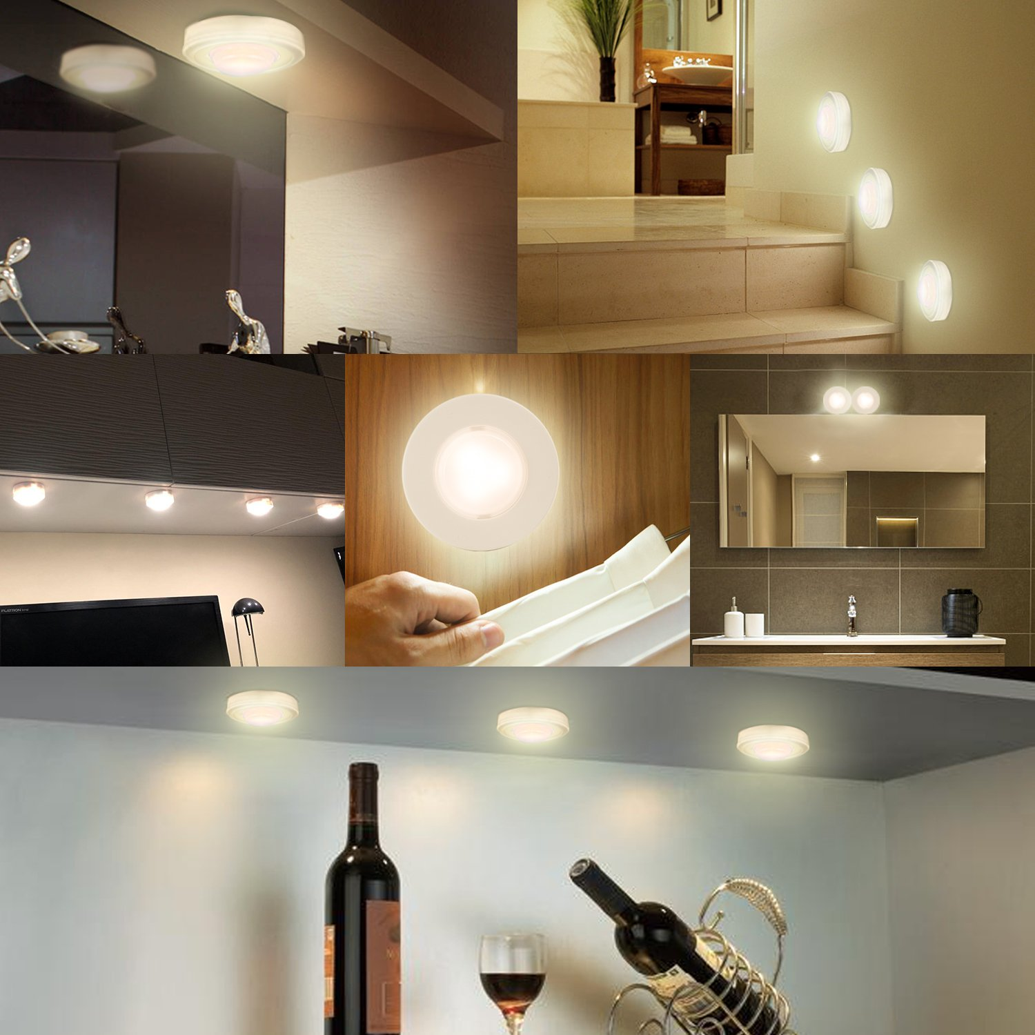 Arvidsson Led Under Cabinet Lighting, Wireless Led Puck Lights With