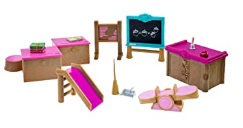 Lil Woodzeez Classroom And Playground Set