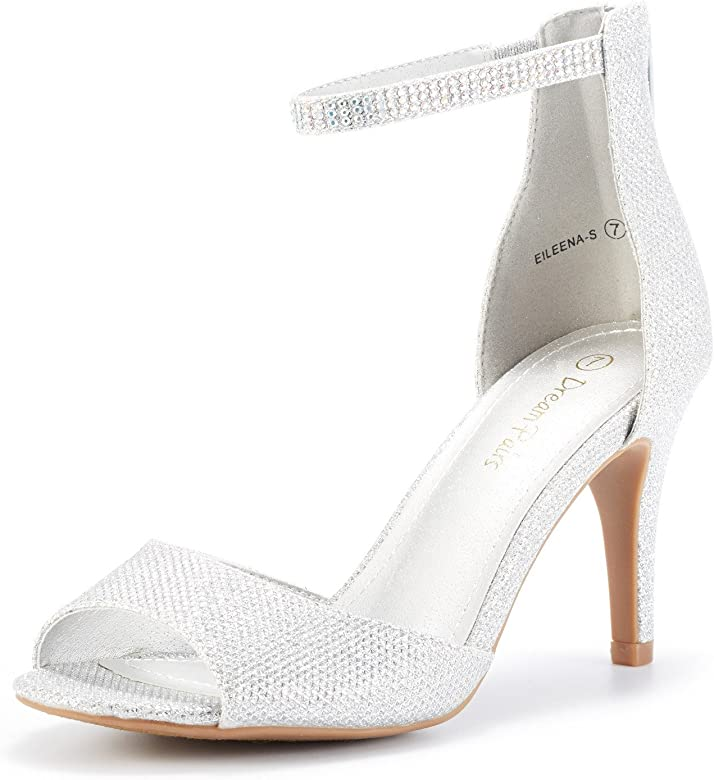 Stilettos Open Toe Ankle Strap High Heels Shoes Women 652 JULIET RED Platform