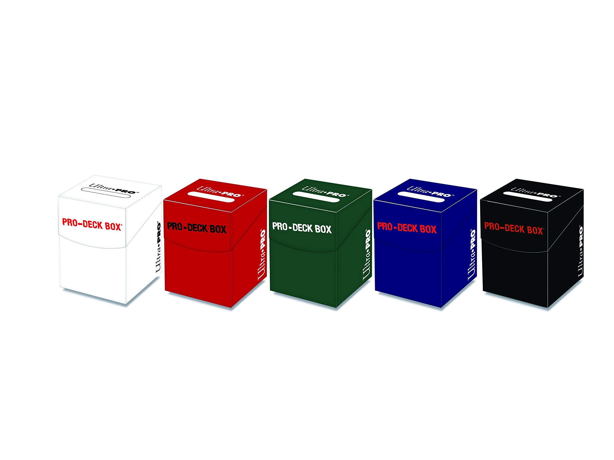 Ultra Pro Magic: the Gathering PRO 100+ Deck Box Set of (5) Mana Colors (White, Green, Red, Black Green)