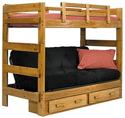 Amazon Com Chelsea Home Twin Over Futon Bunk Bed Kitchen Dining
