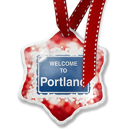 Christmas Ornament Sign Welcome To Portland, red - Neonblond - Amazon.com: Christmas Ornament Sign Welcome To Portland, Red