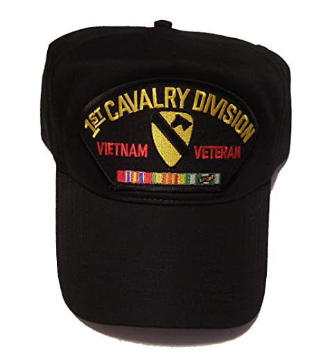 Amazon.com   1ST CAVALRY DIVISION VIETNAM VETERAN HAT with ribbons 1st CAV  crest cap - BLACK - Veteran Owned Business   Everything Else 87ebbf62790e
