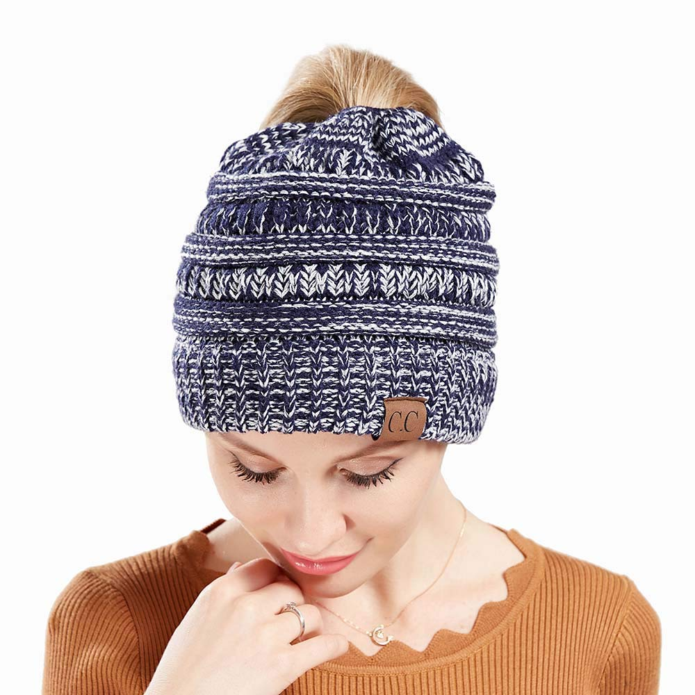 TOVE Knitted Plus Velvet Padded Winter Hat Cap and Neck Warmers for women