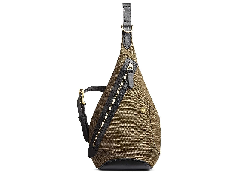 (ミスモ) Mismo DROP BAG -旅行バッグ  KHAKI/BLACK 簡単バッグパスポートバッグクロスボディバッグ(並行輸入品) One Size カーキ/ブラック B07H376BMD