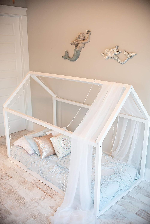 Amazon Com Montessori House Frame Floor Bed From Custom Kids