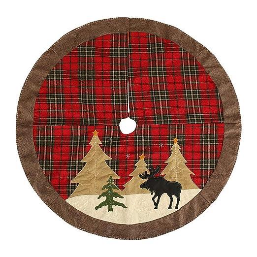 RTXUK Falda del Árbol De Navidad 105Cm Faldas del Árbol De Navidad ...