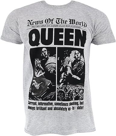 T-Shirt Noir Queen /'News Of The World/'