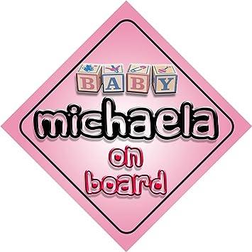 Amazon.com : Baby Girl Baby-Girl-On-Board-Template on board novelty ...