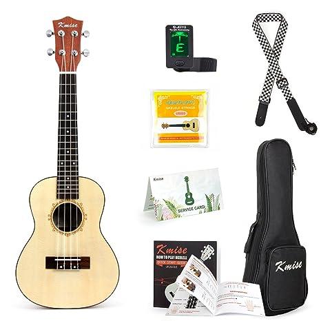 Ukelele de concierto de pícea maciza de 58,42 cm kit Ukelele Uke Guitarra con