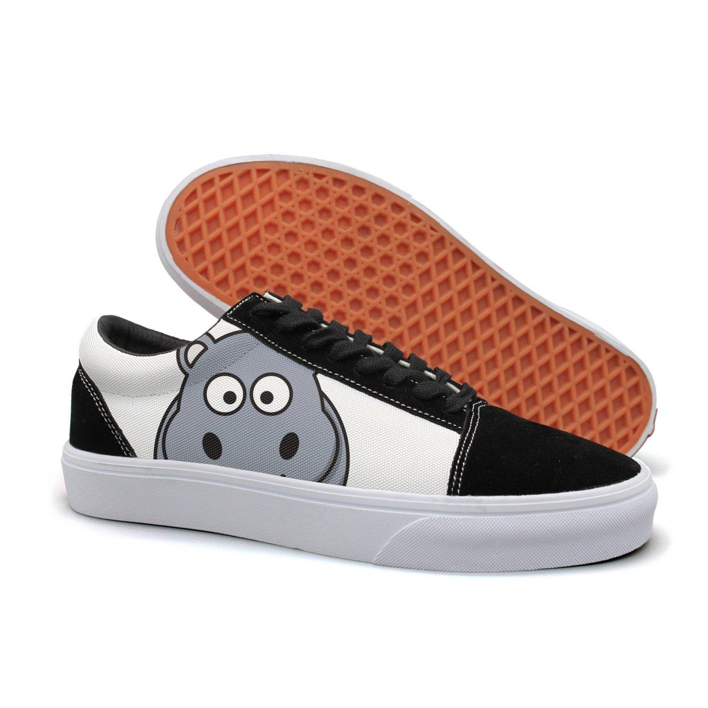 Armsttm Women Skate Shoes Cartoon Hippo Classic Suede Sneaker Classic Shoes