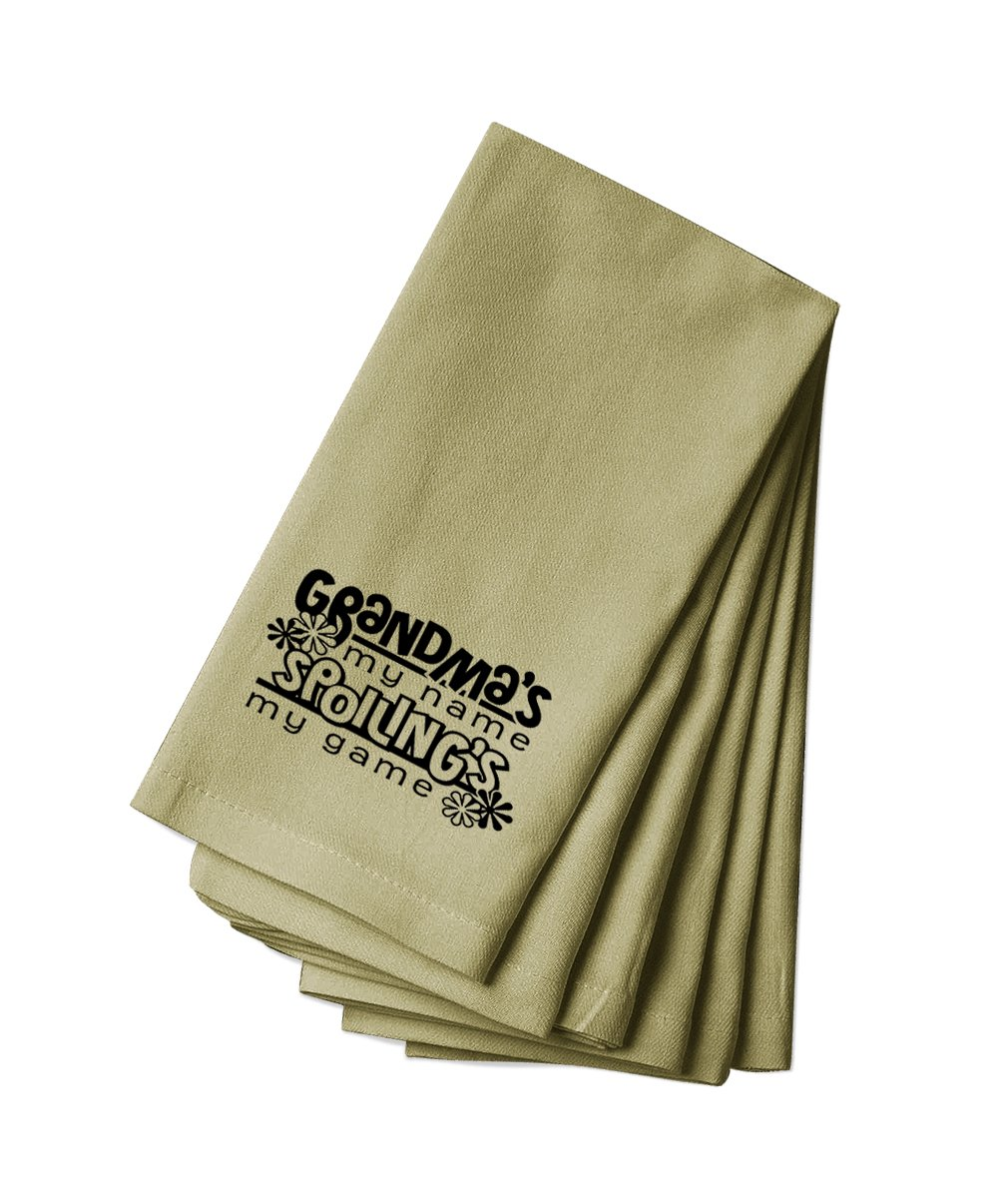 Style in Print Canvas Napkin Set Of 4 Grandma'S My Name Spoiling'S My Game #1 By