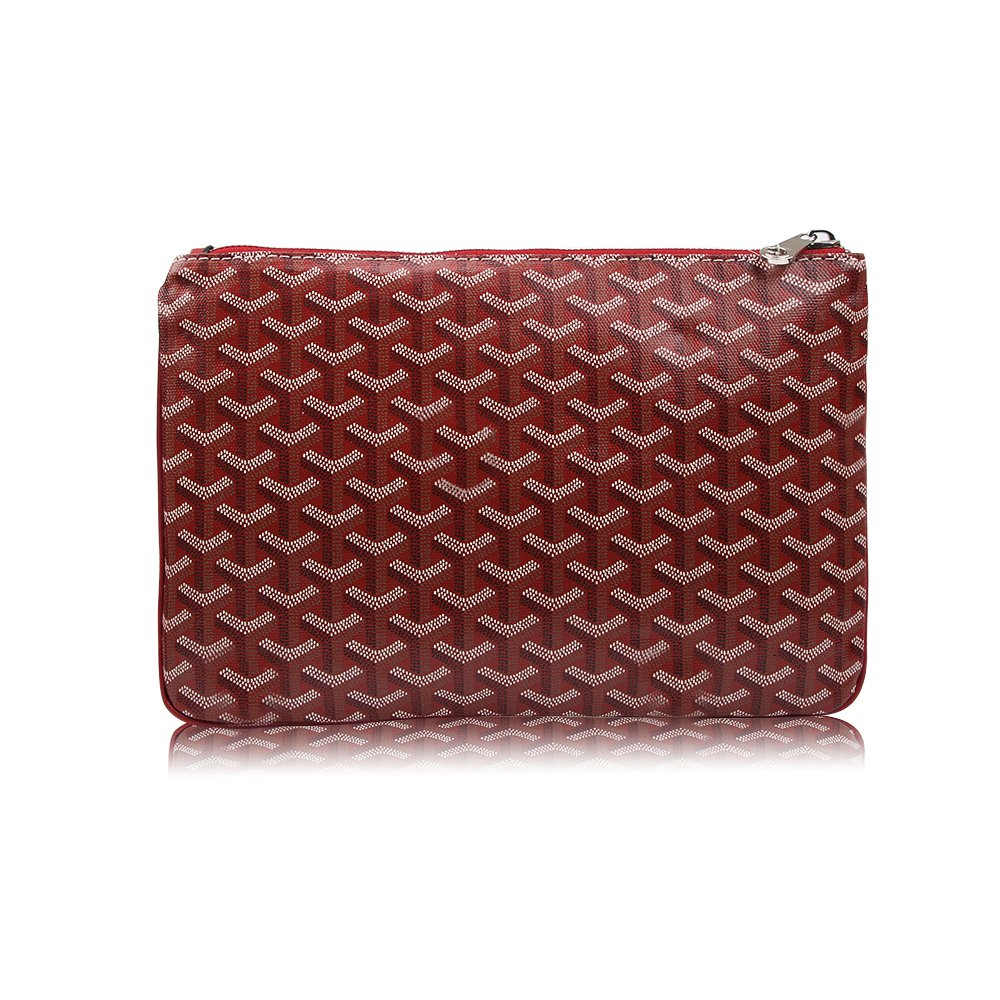 Stylesty Fashion Clutch Bag, Large Leather Envelope Clutch Purse, Portfolio Bag for MacBook