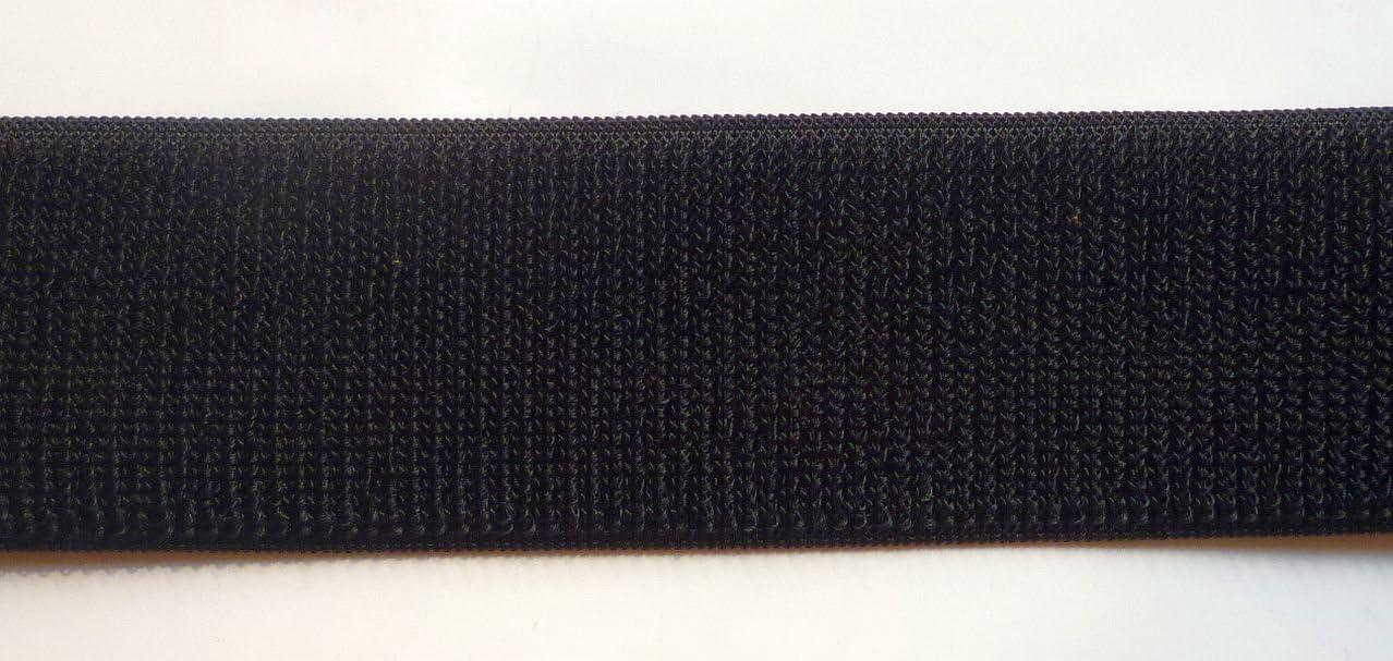 Hakenband schwarz 50mm zum n/ähen 1m Klettband nur