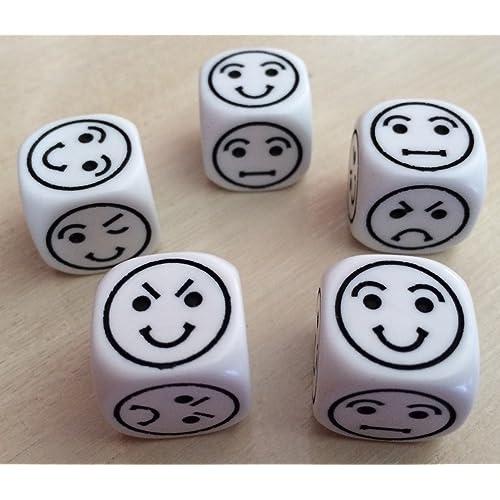 Emoti dice (Set de 5 dés) émoticon-Artémio