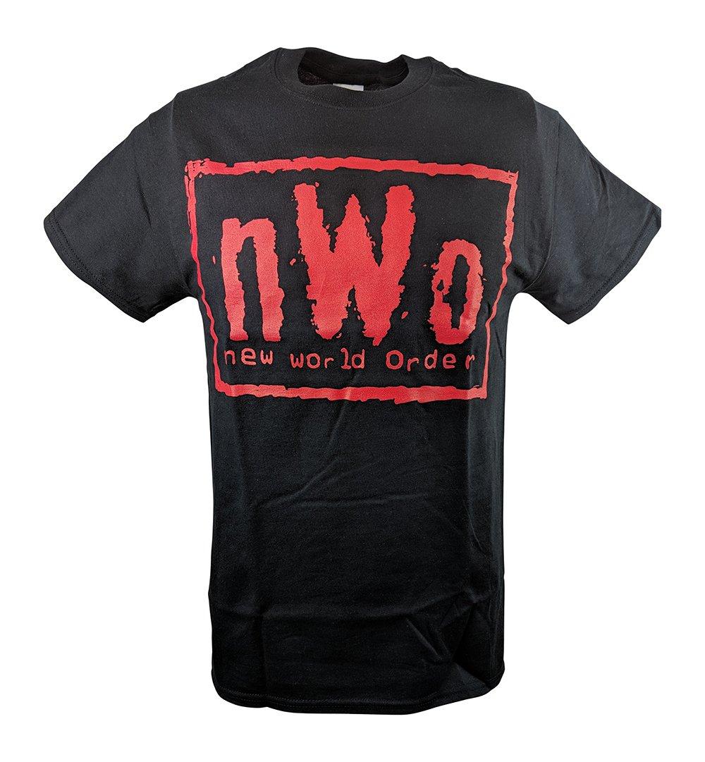 Hybrid Tees NWO Red Logo New World Order T-Shirt-S by Hybrid Tees