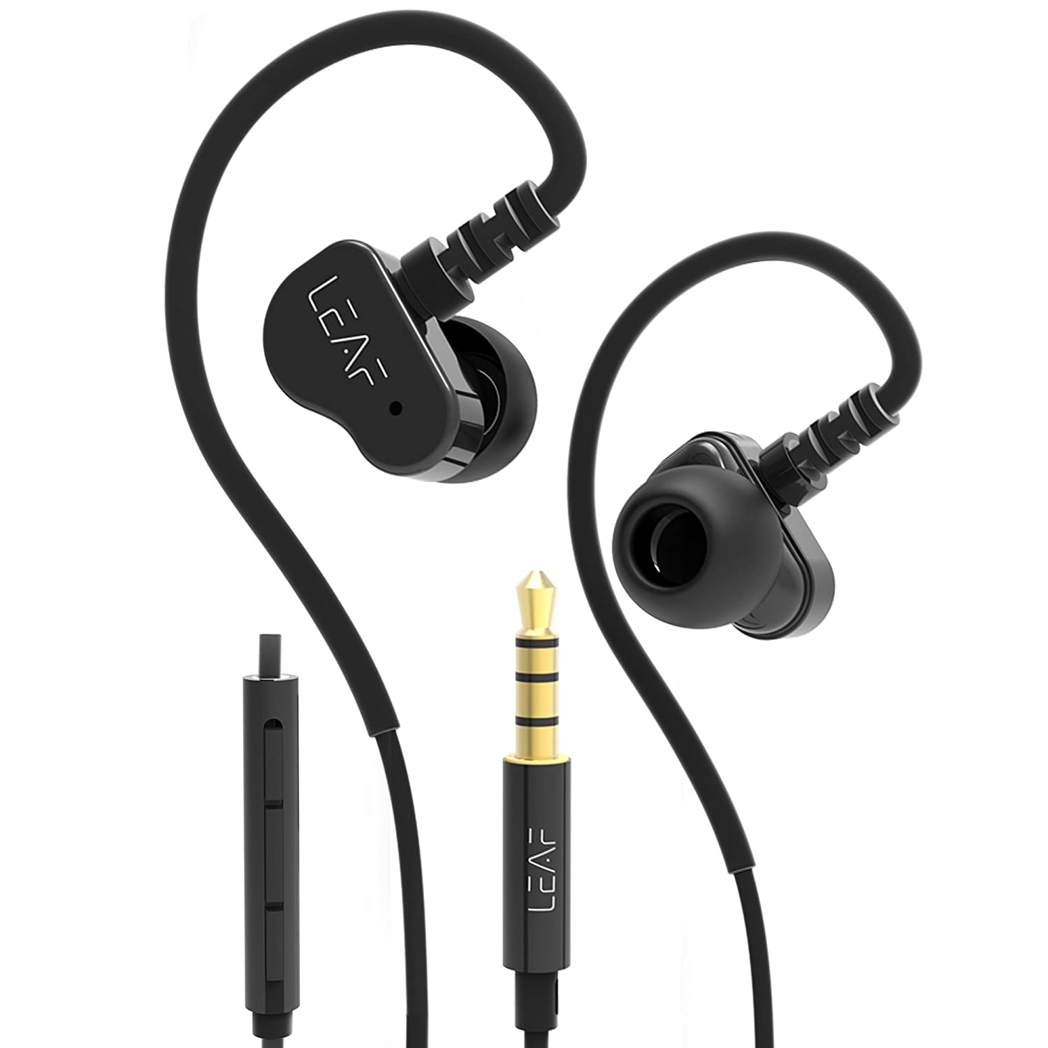Leaf Bolt Dual Driver Wired Earphones for Android, iOS and