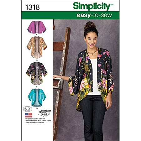 Simplicity 1318 Size A Misses\' Kimono Jackets Sewing Pattern ...
