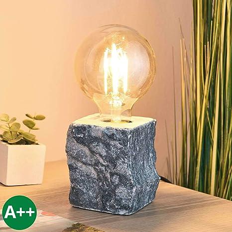 Lámpara de mesa Jordin (Moderno) en Gris hecho de Piedra e.o. ...