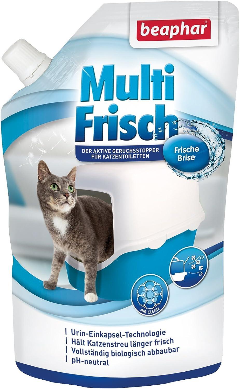Beaphar Multi recién Brisa | neutralizador de olores para Gato nklos | alarga la Vida útil de Gato dispersa, Aromas de Brisa Fresca, 400g