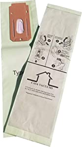 CASA VACUUMS Type CC 8 PK Replacement for Oreck XL Upright Hypo-Allergenic Green Double Wall Microlined Filtration Bags, Compatible with XL5, XL7, XL21, 2000, 3000, 4000, 7000, 8000, 9000