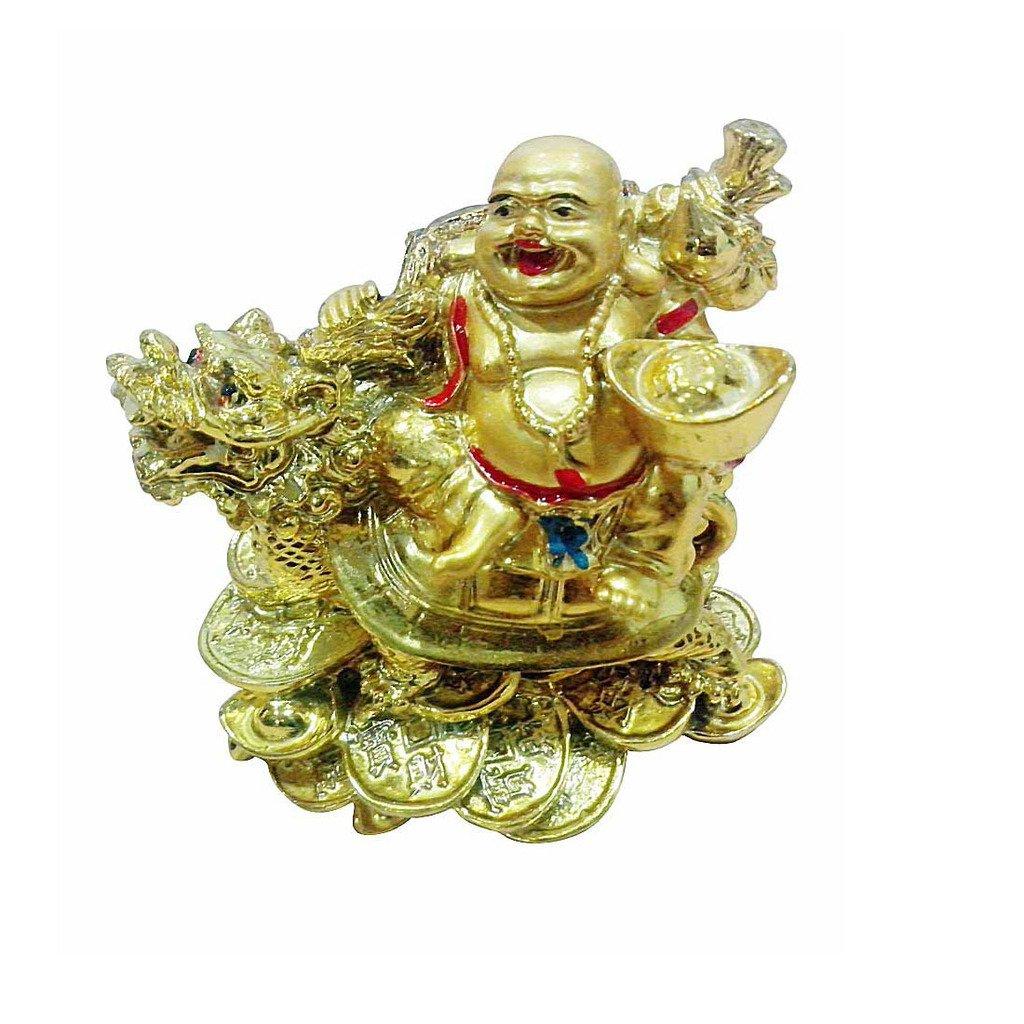Odishabazaar Vastu Feng Shui Lauging Buddha on Dragon for Remove Bad Luck