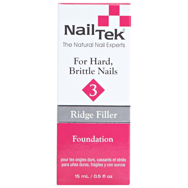 Amazon.com : Nail Tek Ridge-Filling Strengthening Base Coats Foundation 3  For Dry, Brittle Nails : Beauty