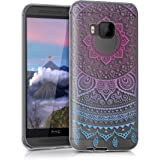 kwmobile Crystal TPU Silicone Case for HTC One M9 in Design Indian sun blue dark pink transparent