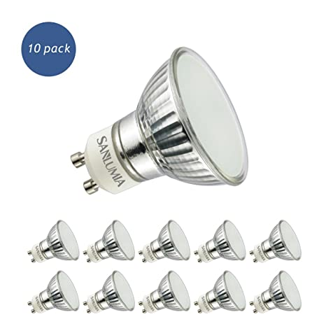 Sanlumia Bombillas LED GU10, 5W=50W Halógena, 400Lm, Blanco Neutro (4000K